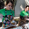 Newburyport: Kendall Grasso and Kim Genew of the Green Bean Deli serve their vegetarian chili at the 3rd annual Chili Festival at the Grog in Newburyport Saturday. Jim Vaiknoras/Staff photo