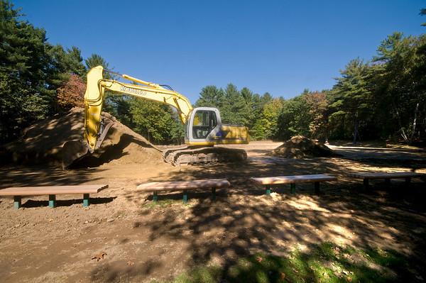Newburyport: Work on eh soccer field at Woodman Park in Newburyport has begun. Jim Vaiknoras/Staff photo