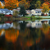 Amesbury: Foliage reflected off Lake Gardner in Amesbury. Jim Vaiknoras/Staff photo
