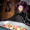 "newburyport: Martha Micheals get ready to bob for apples at Abraham's Bagels at ""Witches Night Out"" Friday night in Newburyport. Jim Vaiknoras/Staff photo"