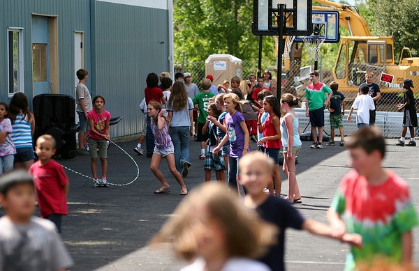 Newburyport: Children at the River Valley Charter School enjoy recess Thursday afternoon. Photo by Ben Laing/Staff Photo