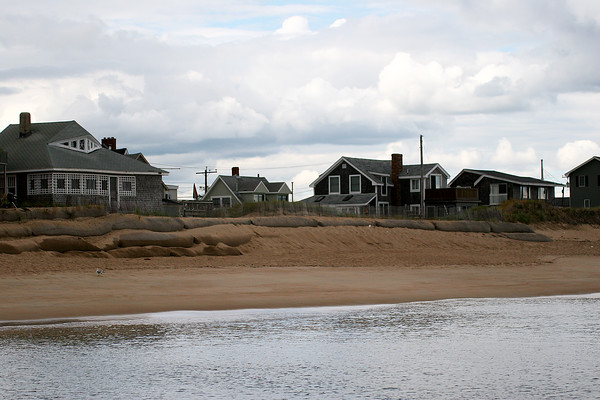 Newbury: The empty lot where Geri Buzzotta's house once stood may soon be filled again, after Buzzotta has applied for a building permit. Her home succumbed to the ocean in November of 2008. Photo by Ben Laing/Staff Photo