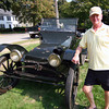 Amesbury: Bart Bailey of Amesbury stands with a 1913 Baily Electric Car, which were produced locally by Bailey's grandfather. Photo by Ben Laing/Staff Photo