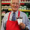 Newbury: Bob Ducott of Dick's Variety on Plum Island was winner of two club tickets to the Red Sox. Photo by Ben Laing/Staff Photo