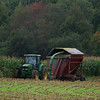 Rowley: The harvest season is upon us as a tractor gathers a crop of corn in Rowley Tuesday afternoon. Photo by Ben Laing/Staff Photo