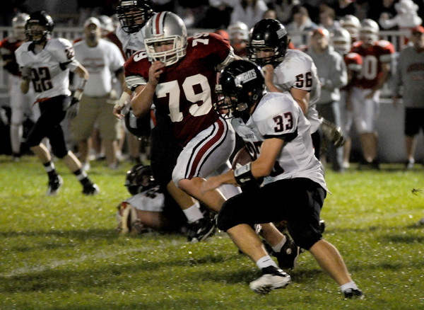 Amesbury: North Andover's jack Murphy cuts up field during the Knights game at Amesbury Friday night. Jim Vaiknoras/Staff photo