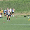 Amesbury: Newburyport field hockey players Cassaundra Davis, Molly Rowe and Paige Hefferan run a drill at practice at Amesbury Sports Park. Jim Vaiknoras/Staff photo