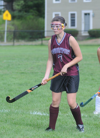 West Newbury: Newburyport field hockey player Paige Hefferan<br /> at the Clippers game at Pentucet. Jim Vaiknoras/Staff photo