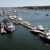 Newburyport: Boats fill the Merrimack River between Newburyport and Salisbury on Labor Day. JIm Vaiknoras/Staff photo