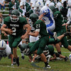 West Newbury: Pentucket's Sean Brennan finds running room against Danvers at home  Saturday. Jim Vaiknoras/Staff photo