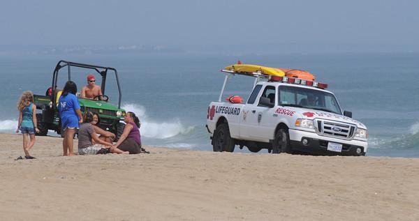 Salisbury: Salisbury Beach lifeguards partol the Beach center in anticipation of  Hurricane Earl. Jim Vaiknoras/Staff photo