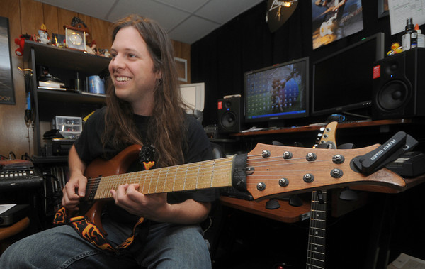 Haverhill:Eric Clemenzi, a Triton grad who was selected to participate in Guitar Magazine's Superstar Competition.<br /> Jim Vaiknoras/Staff photo