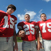 Amesbury: Amesbury high 2010 football captains. Jim Vaiknoras/Staff photo