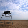 Salisbury: An empty lifeguard stand overlooks an empty beach at the Reservation in Salisbury which due to Hurricane Earl. Jim Vaiknoras/Staff photo