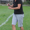West Newbury: Pentucket field hockey head coach Ruth Beaton<br /> at the Sachems home game against Neburyport. Jim Vaiknoras/Staff photo