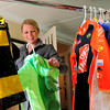 Salisbury: Devon Chouinard-Allen is trying to reach a goal of 800 Halloween costumes to be distributed by the Pettengill House. Bryan Eaton/Staff Photo