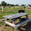 Salisbury: In a scene more reminiscent of early May than late summer, the campground at Salisbury Beach State Reservation as campers had to leave. Bryan Eaton/Staff Photo