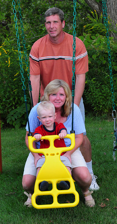Georgetown: Stacie and Paul Melchin with their son, Kevin, 2. Bryan Eaton/Staff Photo