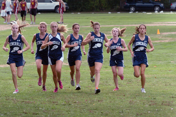 Hamilton: Seven Hamilton-Wenham girls came in together in a meet with Newburyport and Manchester-Essex. Bryan Eaton/Staff Photo