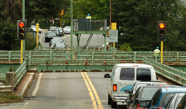 Amesbury: The Hines Bridge was swung open recently to allow a sailboat to pass downstream. The bridge is scheduled to close on October 18 to be rebuilt. Bryan Eaton/Staff Photo