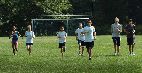Georgetown: Georgetown High cross country team heads out for a practice run Thursday afternoon. Bryan Eaton/Staff Photo