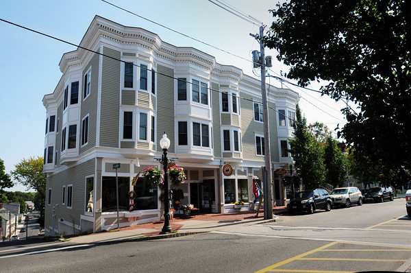 Amesbury: The highest-valued property in downtown Amesbury is located at 104 Main St.  Owned by local developer Mark Wojicki, its value slumped by 6.8%, to $1,415,900.<br /> Bryan Eaton/Staff Photo