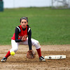 Amesbury: Amesbury shortstop Amanda Schell (16) fields a ground ball during Wednesday's game against visiting North Reading. Photo by Ben Laing/Staff Photo