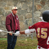 Newburyport: Newburyport High School baseball coach Bill Pettingell watches his team take on Martha's Vineyard. Bryan Eaton/Staff Photo