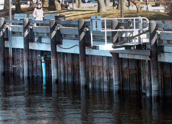 Newburyport: Lt. Governor Tim Murray was in Newburyport yesterday to award a $2 million grant to replace the rusting bulkheads under the boardwalk along the waterfront. Bryan Eaton/Staff Photo