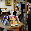 Amesbury: Amesbury Public Library head Patty DiTullio, left, gives a tour to Nabila Irfan, center and Khaqan Murtaza who are visiting from Pakistan. Bryan Eaton/Staff Photo