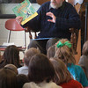 Amesbury: Newburyport author Mark Karlins speaks with third-graders at Amesbury Elementary School on Friday. School librarian Paula Brown arranged the presentation on the wonders of story writing. Bryan Eaton/Staff Photo