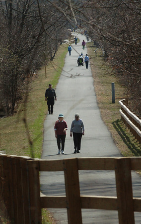 Salisbury: Monday's nice weather brought out many strollers and bicyclers to Salisbury's Great Eastern Marsh Trail. It's going to be colder tomorrow with a good amount of rain. Bryan Eaton/Staff Photo