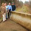 Byfield: Members of the Newbury Recreational Trail Committee at a section in Byfield, from left, Christine Wilkinson, Steve Fram, Steve St. Arnault and John Van Sehalkwyk. Bryan Eaton/Staff Photo