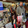 Newburyport: Paul Abruzzi of Jabberwocky near the book store's display promoting the Newburyport Literary Festival. Bryan Eaton/Staff Photo