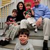 Newburyport: Patrick Skiba, 4, flanked by mom, Candi, dad, Chris and brothers Joseph, 6, left, and Thomas, 2. Bryan Eaton/Staff Photo