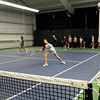 Newburyport and Triton High School tennis teams practiced indoors at the Newburyport Racquet Club. Bryan Eaton/Staff Photo