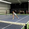 Newburyport and Triton High School tennis teams practiced indoors at the Newburyport Racquet Club. Bryan Eaton/Staff Photo
