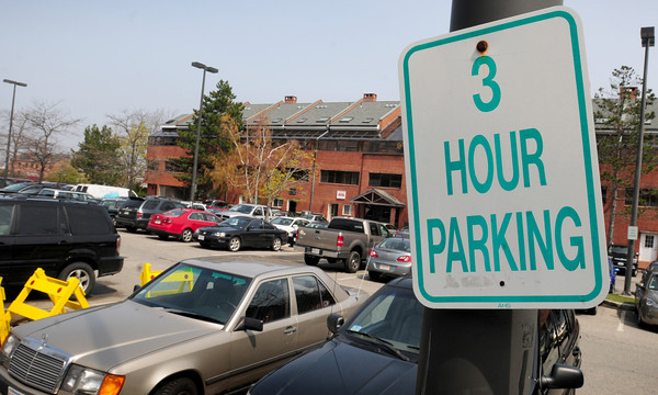 Newburyport: Parking limit around city lots, here the Green Street lot, and on the street are now three hours limit. Bryan Eaton/Staff Photo