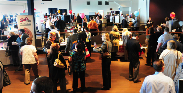 Salisbury: ValleyWorks Career Center Regional Spring Job Fair held at the Blue Ocean Music Hall at Salisbury Beach attracted a large crowd on Tuesday morning. People were waiting to get in the 10:00am event close to an hour before it started. Bryan Eaton/Staff Photo