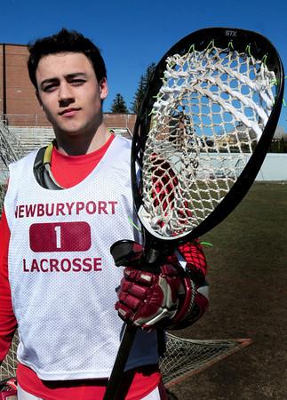 Newburyport: Newburyport High lacrosse goalie Dean Cataldo. Bryan Eaton/Staff Photo