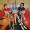 Amesbury: amesbury high returning track stars Cassie Harding sr, , Megan Cullen soph Vanessa LeBlanc jr. Jim Vaiknoras/Staff photo