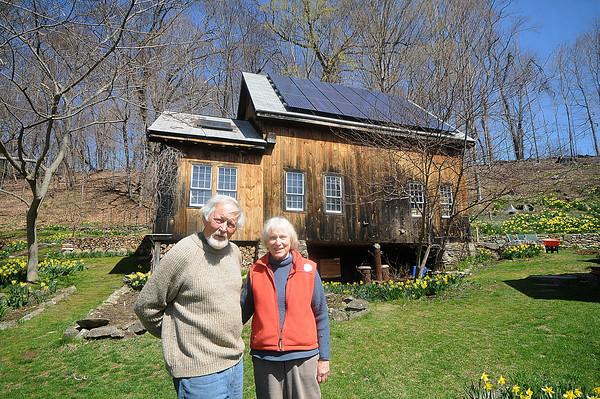 West Newbury: Barbara and Peter Haack at their West Newbury home. Jim Vaiknoras/Staff photo