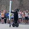 "Ipswich: Charles Trainer of Artistic Licence leads The annual ""chase the gorilla down Argilla""  5K road race on a Segway Saturday  morning at the YMCA in Ipswich. Jim Vaiknoras/Staff photo"