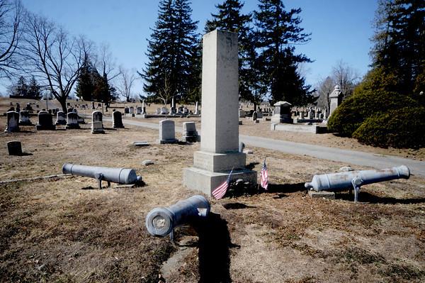 Civil War memorial at the Union Cemetery in Amesbury. Jim Vaiknoras/Staff photo