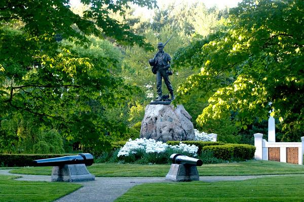 Newburyport: Civil War Memorial at Atkinson Common in Newburyport. Jim Vaiknoras/Staff photo