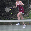 Newburyport: Newburyport Ellen Graham returns the ball during her game against Ipswich Friday. Jim Vaiknoras/Staff photo