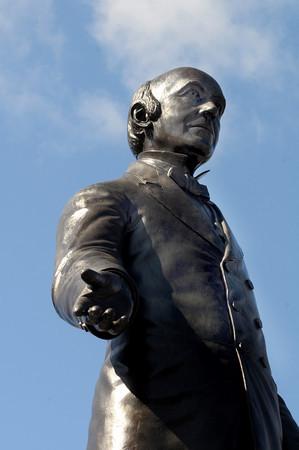 Newburyport: Garrison statue in Brown Square in Newburyport. Jim Vaiknoras/Staff photo