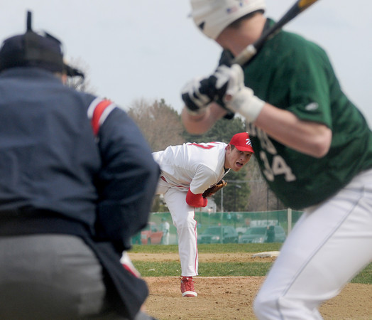 Boxford: Masco's Ben Panunzio pitches against Pentucket Saturday at Marsco. Jim Vaiknoras/Staff photo
