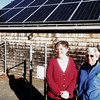 Newbury:  LuAnn Kuder,right, and Maureen O'Brien,  have solar panels on their Newbury home. Jim Vaiknoras/Staff photo