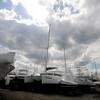 Newburyport: Boats wait in the Windword Shipyard in Newburyport. Jim Vaiknoras/Staff photo